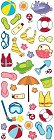 Puffy Beach Icons Stickers