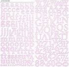 Apollo Pink Alphabet Stickers