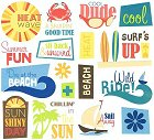Surfs Up Phrases Rub-Ons