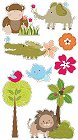 3D Jungle Animals Stickers