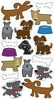 3D Cute Dogs Stickers