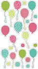 3D Pink Birthday Balloons Stickers