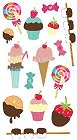 3D Sweets & Candy Stickers