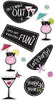 3D Girls Night Out Stickers