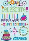 Birthday Party Rub-Ons W/Gems