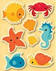 Under Sea Puffy Stickers