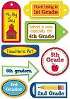 3D School Grades Stickers