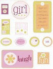 Girl Textured Stickers