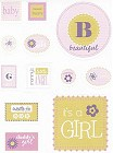 Baby Girl Textured Stickers