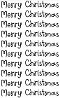 Merry Christmas Words Rub-Ons