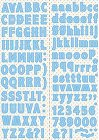 Baby Blue Alphabet Stickers