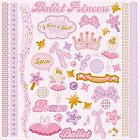 Glitter Ballet Princess Stickers