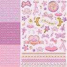 Glitter Ballet Princess Alpha Stickers