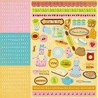 Glitter Kitchen Alphabet Stickers