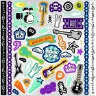 Glitter Rock Star Stickers
