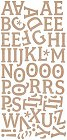Pyrus Brown Alphabet Stickers