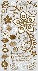 Brown Flower Rub-Ons W/ Jewels