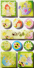 Irene's Garden Wish Epoxy Stickers
