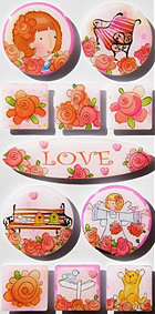 Irene's Garden Love Epoxy Stickers