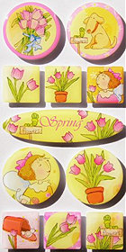 Irene's Garden Spring Epoxy Stickers