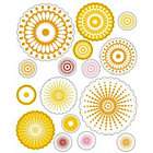 Yellow Radial Flowers Stickers
