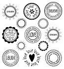 Love Postmarks Rub-Ons