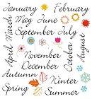 Calendar Rub-Ons