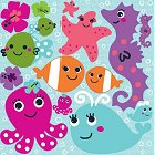 Bubbly Sea Creatures Stickers