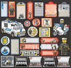 Lego Police B Stickers
