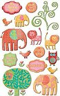Boho Little Girl Epoxy Stickers