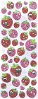Glitter Strawberries W/ Rstone Kawaii Stickers