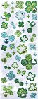 Glitter Clovers W/ Rhinestones Kawaii Stickers