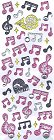 Glitter Pk Music W/ Rhinestone Kawaii Stickers