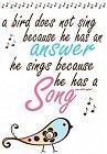 Song Bird Rub-Ons