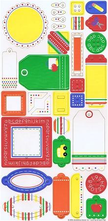 School Chipboard Stickers