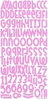 Pink Flocked Alphabet Stickers