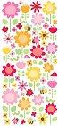 Glitter Ladybugs & Flowers Stickers