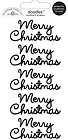 Black Merry Christmas Words Stickers