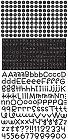 Black Teensy Type Alphabet Stickers