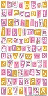 Pretty Pink Alphabet Stickers