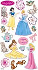 Puffy Disney Princesses Stickers
