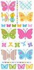Glitter Butterflies Rub-Ons