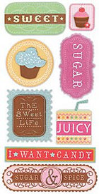 3d Sugar Sweet Stickers
