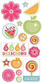 3d Delicious Stickers