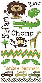 Safari Boy Rub-Ons