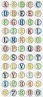 Grade School Alphabet Epoxy Stickers