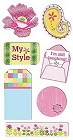 Tres Chic Chipboard Stickers