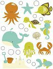 Rock Pool Sea Friends Epoxy Stickers
