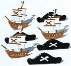 12 Pirate Brads