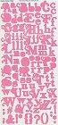 Wishful Thinking Pink Alphabet Stickers
